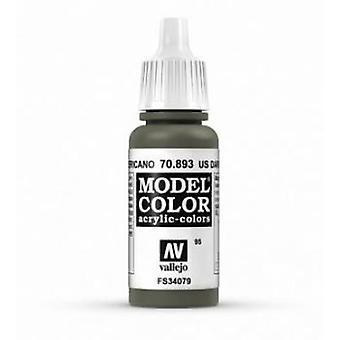 Vallejo Model Color 17ml Acrylic Paint - 893 US Dark Green