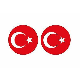 2x tarra tarra pyöreä cocarde Turkin lippu