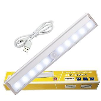 Détecteur de mouvement infrarouge Wireless Sensor Light Closet Usb Rechargeable Led Lamp