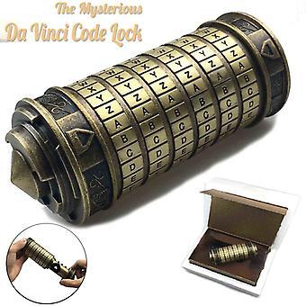Metal Cryptex locks Leonardo da Vinci code toys wedding gifts Valentine's Day gift Letter Password escape chamber props