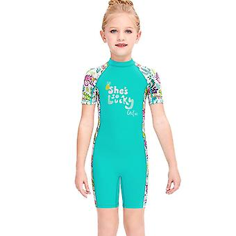 Kids wetsuit long sleeve one piece uv protection thermal swimsuit dfse-13