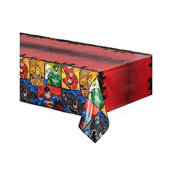 Justice League kunststof tafelkleed 137 x 213 cm