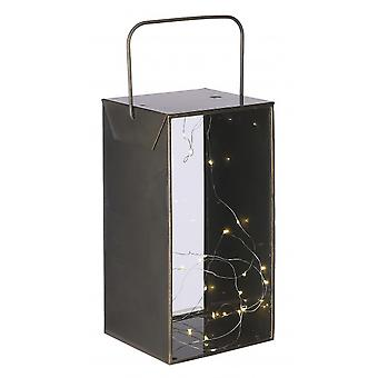 قاد فانوس أستون 18.5 × 35 سم الذهب الحديدي