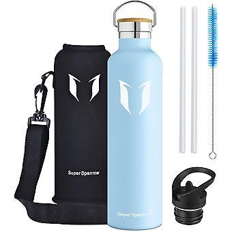 Stainless Steel Water Bottle - 350ml / 500ml / 620ml / 750ml / 1000ml - Vacuum Insulated Metal Water