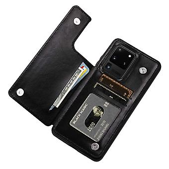 WeFor Samsung Galaxy Note 8 Retro Flip Leather Case Wallet - Wallet PU Leather Cover Cas Case Black