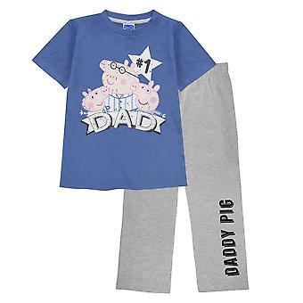 Peppa Gris Herre Nummer 1 Daddy Gris Nødstedte Pyjama Set