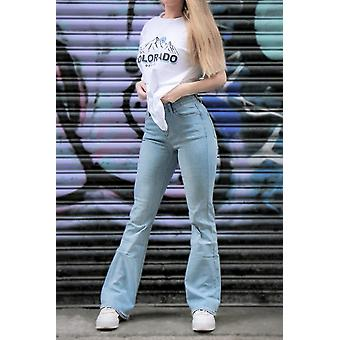 Mid Rise Stretch Bootcut Jeans