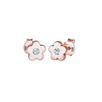 Elli Earrings Symbol of flower for children with silver crystal 925(1)