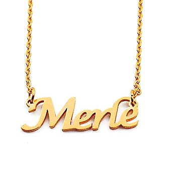 Kigu Merle - Adjustable Necklace with Custom Name, in Gold Plated Packaging 18 kt