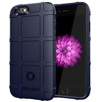 Tpu Kohlefaser-Gehäuse für iphone 7 plus blau mfkj-1787