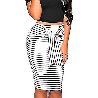 Summer Sexy Slim Striped Knee-Length Skirt