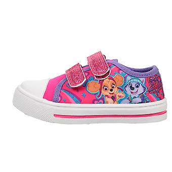 Filles Pink Paw Patrol Skye &Everest Low-Top Casual Trainer