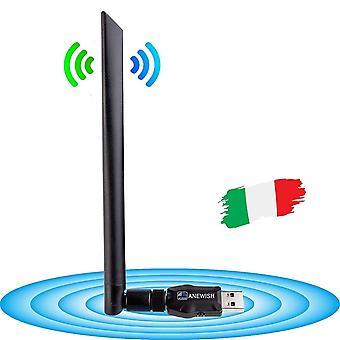 Wifi-adapter til Italia 1200 Mbps for Android Box / Pc / bærbar PC / nettbrett / smart TV