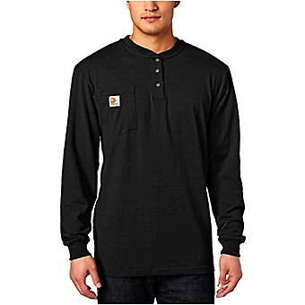 Carhartt Men's Workwear Pocket Henley Shirt (Regular and Big & Tall Sizes), Black, Large