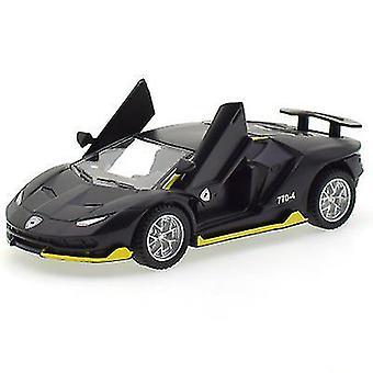 سيارة حمراء نموذج لعبة 1/32 صوت الطفل والضوء سحب السيارة سبائك الزنك اللعب للأطفال صبي فتاة هدية x4639