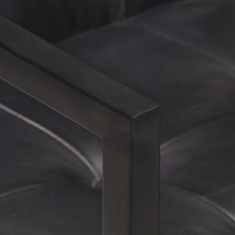 vidaXL gabinete en voladizo 2 piezas. Cuero real negro