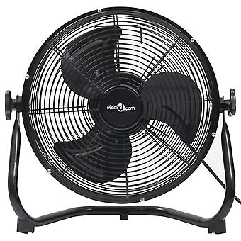 vidaXL ventilateur de sol 3 niveaux de vitesse 45 cm 100 W noir
