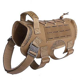 L bruine tactische hond rugzak huisdier tactisch vest afneembare zakken x3032