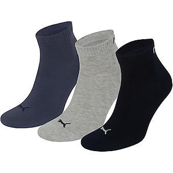 Puma Training Socks UK Size 6-8 Navy Mix Pack of 3