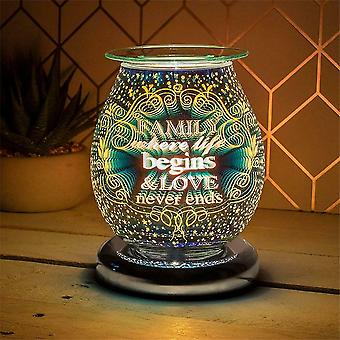 Lesser & Pavey Electric Touch Aroma Lamp Wax Melt Oil Burner Family Lp46740