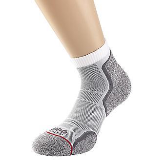 1000 Mile Run Anklet Sock Ladies White/Grey - Medium