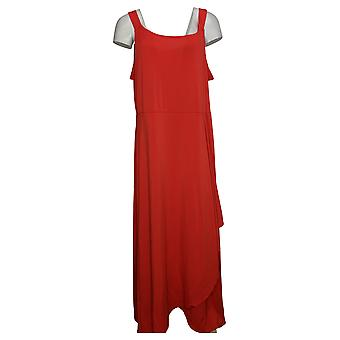 بروك شيلدز الخالدة زائد فستان أحمر بلا أكمام A307769