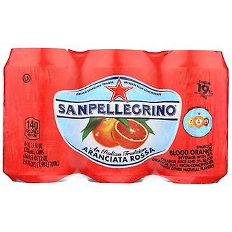 San Pellegrino Bev 6Pk Sprklng Blood Orng, Case of 4 X 66.9 Oz