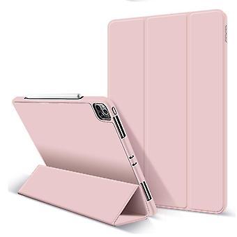 Beschermhoes voor iPad Pro 12.9inch geval met potloodhouder (ROZE)