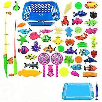 Μαγνητική αλιεία των παιδιών γονέας-παιδί διαδραστικά παιχνίδια παιχνίδι παιδιά 2 Ράβδος 10 3D ψάρια 1 νερό πισίνας