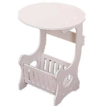 Mini plastic ronde salontafel theetafel thuis woonkamer opbergrek nachtkastje thee fruit