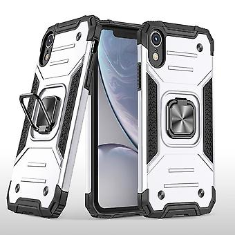 Cover Case For Iphone Xr With Ring Magnetic Car Mount Kickstand Black