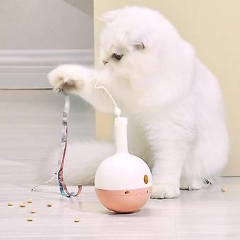 Creative Electric Tumbler Cat Toy Smart Teasing Rolling Ball Cat Toys Led Light Cats Toys Interactive Self Rotating Ball Ropes