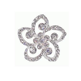 Blomst formet Diamante Brosje for Blomsterdekoratør eller Bryllup Håndverk