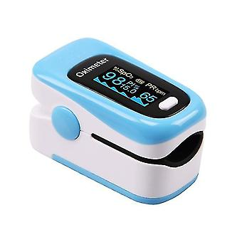 Portable Finger Oximeters Fingertip oximeter Heart Rate Saturometer(Blue)