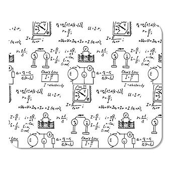 (300X250X3) Science Mouse Pad, Geek Nerd Culture Handwriting Style Physics Mathematics Formula