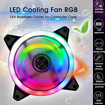 120mm RGB LED koelventilator 12V 4Pin naar 3Pin Computer Case PC CPU