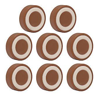 8x antislip meubels wiel caster cups 49mm diameter voor stoelbed