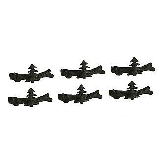 Set of 12 Cast Iron Pine Tree Drawer Pulls