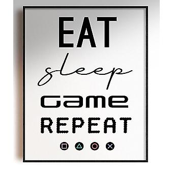GnG Gaming A4 Ord Sitat Innrammede Plakater For Barn Soverom Kunstverk Spis Søvn spill PS