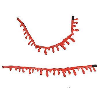 Halloween röd droppande blodhalsband, skräck tema dekoration för Halloween fest