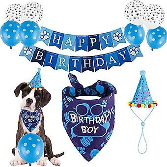 Happy Birthday Supplies  Balloon Hat Party Theme Decoration For  Boy Pet Dog Set|Dog Accessories