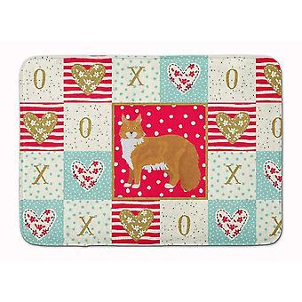 Bath mats rugs carolines treasures ck5642rug maine coon #1 cat love machine washable memory fo