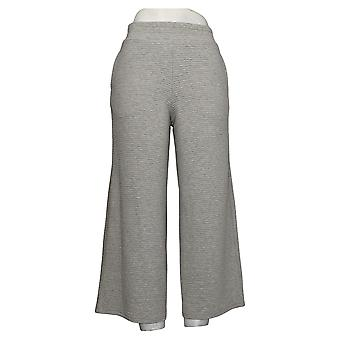 DG2 by Diane Gilman Women's Pants Textured Knit Cropped Gray 686510
