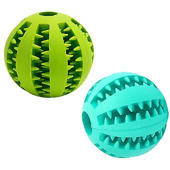 Psí míč, 2 netoxické gumové bonbóny, Psí koule pro čištění zubů a štěňátků, Míčové hry pro malé a střední psy a kočky