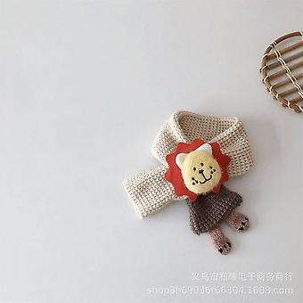 Small Fresh And Lovely Lion Children's Mouth Knitted Winter Warm Wool Scarf