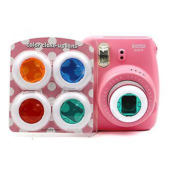 Conjunto de filtro de close-up de cores compatível com Fujifilm Instax Mini 7s/7c/8/8+/9