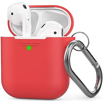 Airpods Silicone Case With Buckle Compatible Apple 2 & 1
