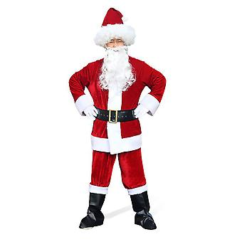 Silktaa Adult Santa Claus Costume Set Noël Ensemble 8 pièces