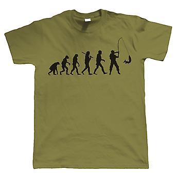 Evolução da pesca, camisa engraçada dos homens, presente para o paizinho ele