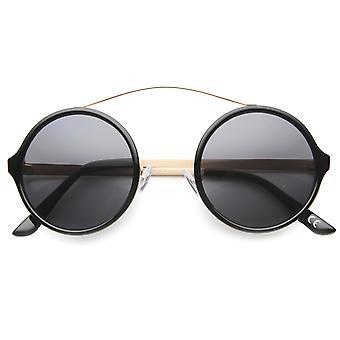 ユニセックス ラウンド サングラス UV400 保護複合レンズ